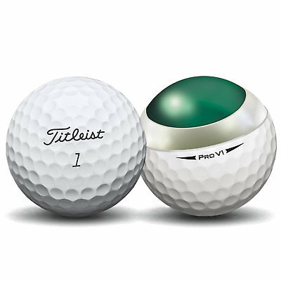 24 Titleist Pro V1 2018 Near Mint Used Golf Balls AAAA - Free Dual Brush