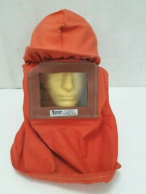 Western Safety Sand Blasting Protective Cover Helmet - Orange Protection P-34212