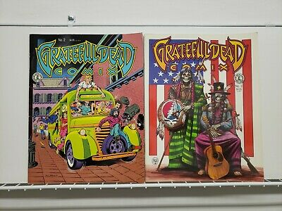 Kitchen Sink Comix Grateful Dead #2 & #3 1991 USED Indi Comic Lot