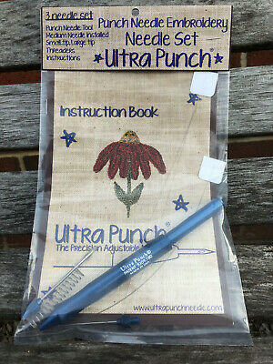 ultra punch needle set with threaders, ultra punch needle kit