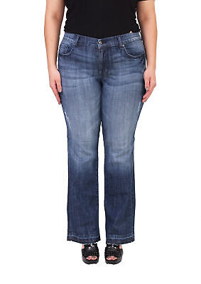 086aca7f7563 Eunina Jeans Women Middle Rise Plus Size Flare Jeans   Distressed Detail  A93787