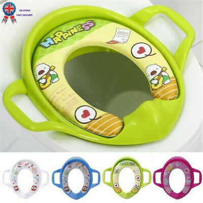 Baby Soft Padded Potty Training Toilet Seat With Handles Toddler Kids Child Safe