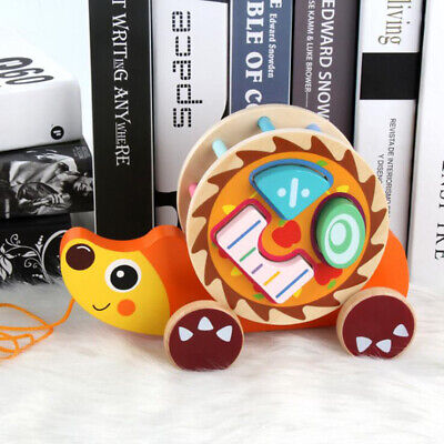 Toddlers Animal Trailer Wooden Sorting Geometric Puzzles Multicolor Baby Toys 6A