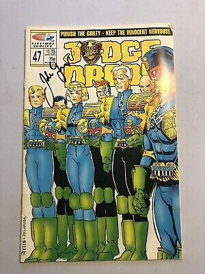 Judge Dredd Fleetway Comics #47 Signed By John Wagner - Scarce