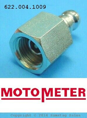 MotoMeter 622.004.1009 Nipple Adapter, Straight with Check Valve