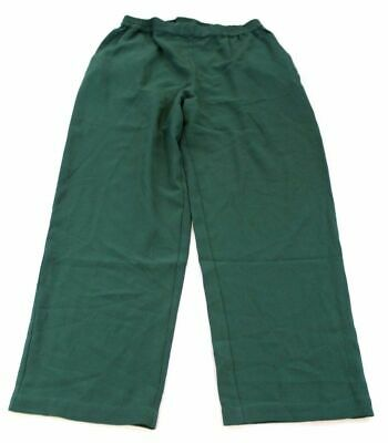 Linea by Louis Dell'Olio Women's Moss Crepe Pants SN2 Green Size Medium Petite