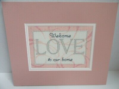 Finished Cross Stitch Welcome to Our Home Love Completed 10x12