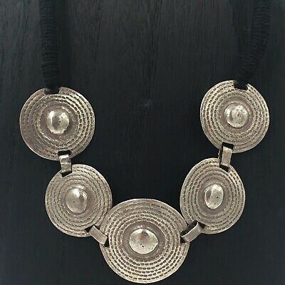 Thailand Hill Tribe - Antique Silver Handmade Tribal Necklace - EXQUISITE