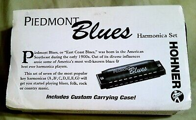 Hohner Piedmont Blues Harmonica Set With Case PBH7