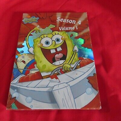 Spongebob Squarepants - Season 4: Vol. 1 (DVD, 2006, 2-Disc Set) opened