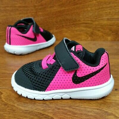 3300ffc044 Nike Flex Experience 5 (Toddler Girl's Size 4C) Running Sneaker Shoes Black  Pink