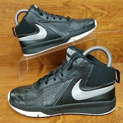 a80f3b359 Nike Team Hustle D7 (Youth Size 1.5Y) Basketball Sneaker Shoes Black Silver