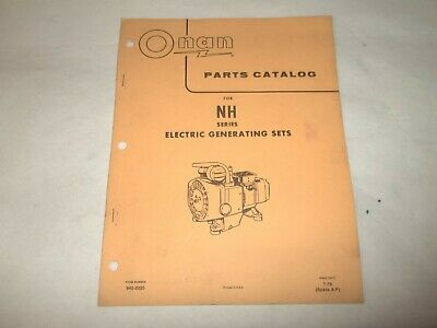 Onan NH electric generating plants parts catalog
