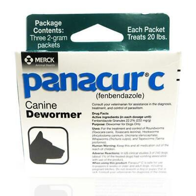 Panacur C Canine Dewormer Fenbendazole Control of parasites on Dogs 3 Packets 2