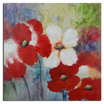 On Canvas Oil Painting Modern House Decor Beautiful Flower Hand Painted Framed