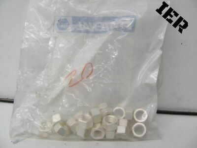 Lot Of 20 Fastenal Nut 3/8-16 Hex Silv New Sealed!!