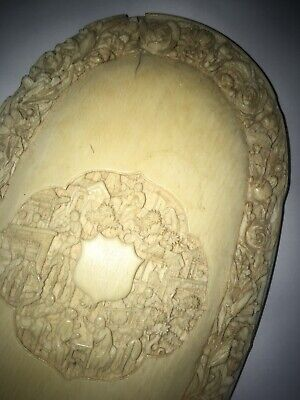 Antique Chinese Carved Hand Mirror