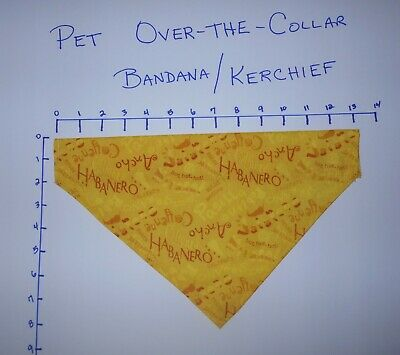 Pet/Dog Over-the-Collar bandana kerchief peppers habanero cayenne hand made