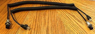 OPEK MC6-10A 6FT HAND MICROPHONE CABLE COILED 6 WIRE W STRAIN RELIEF FOR ASTATIC