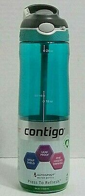 Contigo Autospout Ashland Water Bottle, 24 oz , Scuba Spout Shield, Leak Proof