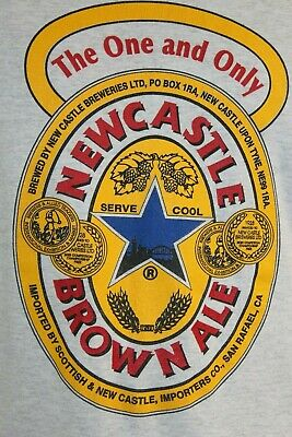 XXL Newcastle Brown Ale Gray T shirt England beer stout