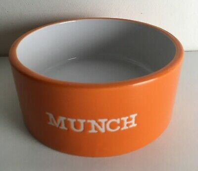 "MASON CASH ""MUNCH"" FOOD BOWL Orange China Ceramic Guinea Pig Rabbit Rat Chin"