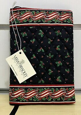 Vera Bradley Book Cover in Ribbons and Holly