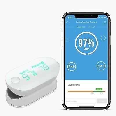 iHealth AIR PO3M Wireless Pulse Oximeter and 1 Lanyard