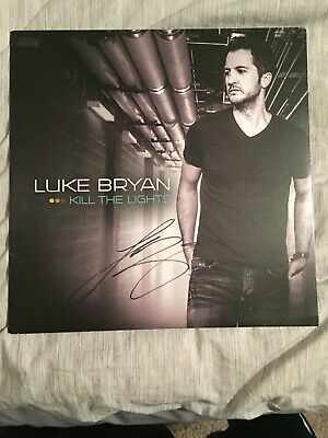 Luke Bryan Country STAR SIGNED Autographed Kill the Lights Vinyl Record