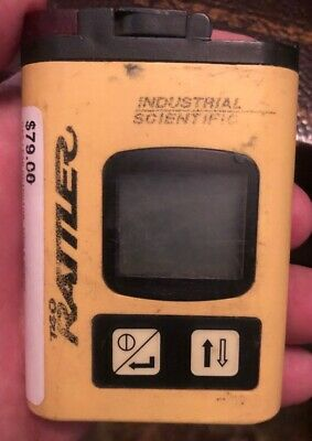 Rattler Single Gas Detector, T40, Hydrogen Sulfide, 0 To 500 Ppm, 18105247
