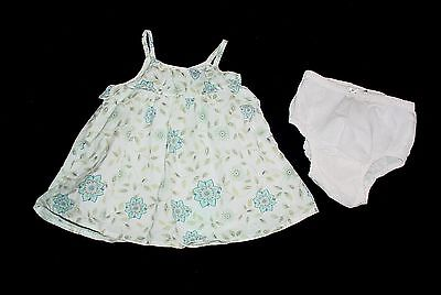 EUC Baby GAP Girls SOUTHWEST Blue Purple & Green Floral Dress 0-3 M VHTF
