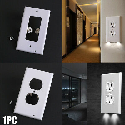 Night Light Plate Plug Cover With LED Lights Wall Outlet Cover Hallway Bathroom