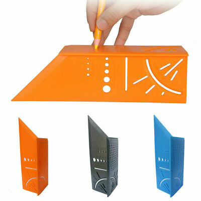 3D Mitre 45/90 Degree Angle Square Ruler Measuring Woodworking Tools with Gauge