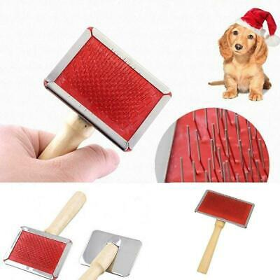 Pet Dog Cat Hair Brush Pin Fur Grooming Trimmer Comb Tool For Long Haired Super