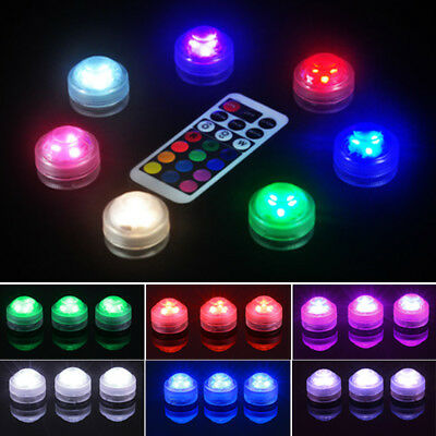 Flotante Subacuática RGB LED Luz Brilla Show Piscina Spa Lámpara Luces Kit