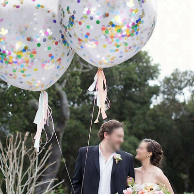 12 Inches Confetti Balloons Clear Latex Balloon Birthday Parties Decorations