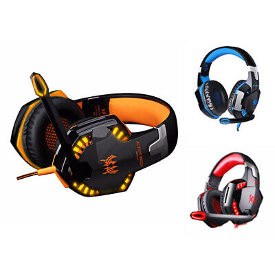 KOTION EACH G2000 Computer Stereo Gaming Headphones With Mic Led Light Z8Y5