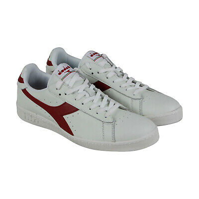 Diadora Game L Low Mens White Leather Low Top Lace Up Sneakers Shoes 13