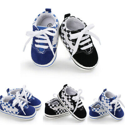 Baby Girl Boy Soft Sole Crib Shoes Toddler Sneakers Canvas Shoes Anti-slip 0-18M