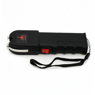 Red Scorpion Black Stun Gun 78 Billion Volt Strong Flashlight Police Self
