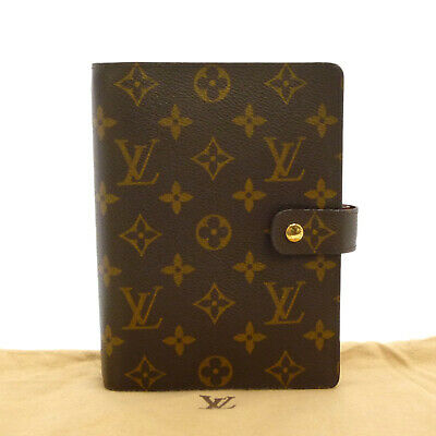 Auth LOUIS VUITTON Agenda MM Day Planner Cover Monogram Canvas R20004 #S212014