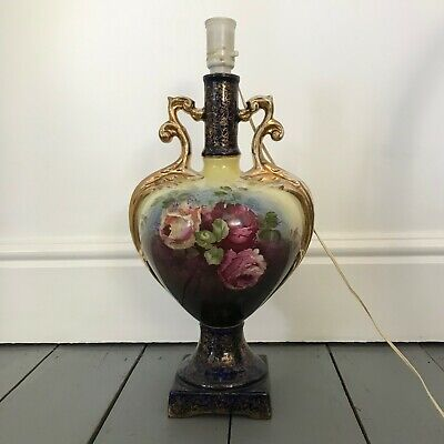 Large French Country TABLE LAMP Decorative Urn Vase Style Ceramic