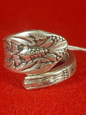 Spoon Ring Stunning Handmade Silver Plate Detailed Silverware Wide Flatware Hot