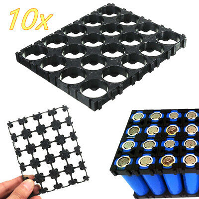 10Pc 4x5 cell battery spacer 18650 battery radiating shell pack plastic holderHH