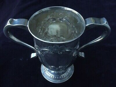 1786 Large Georgian Newcastle cup by Langlands and Robertson 15ozs incuse head