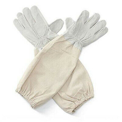 Beekeeping Bee Gloves - Soft White Goats Leather With Cotton For Beekeeping