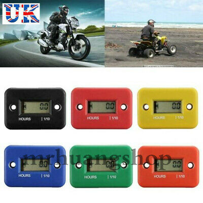 Digital LCD Counter Hour Meter for Motorcycle ATV Dirtbike Marine Boat MH