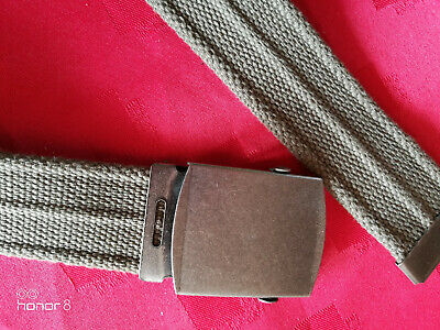 "CHILD BOYS TROUSER BELT MILITARY COMBAT STYLE KHAKI WEBBING 77cm/32.5"" LENGTH"