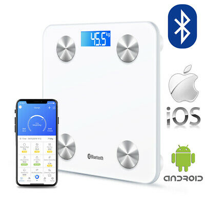 Wireless Digital Bathroom Body Fat Scale 180KG Bluetooth Scales Weight BMI Water