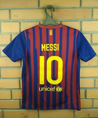 e83a8dfcd4d Messi Barcelona kids jersey 10-12 y. 2011 2012 home shirt soccer football  Nike